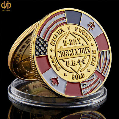 WWII 1944 D-Day 70th Anniversary Arromanches Normandie War Challenge Coins
