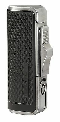 New Black Label By Lotus-Sotheby Triple Torch Cigar Lighter-Black&Pewter