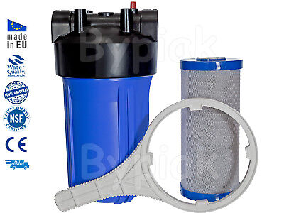 """Whole house home water filter full flow 10"""" jumbo BB big blue chlorine removal"""