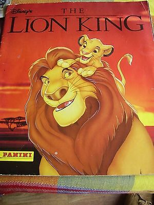 Rare Panini Disney The Lion King 1999 Sticker Album Book  Complete