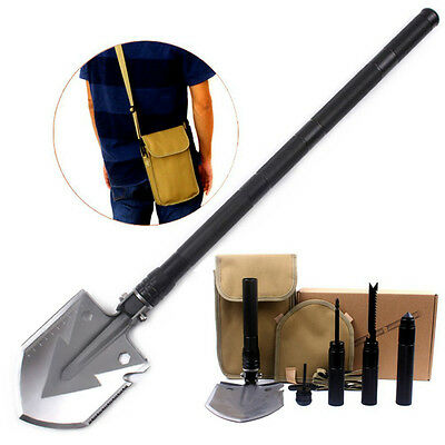 Utility Folding multi-function Shovel Outdoor Camping Self-defense Survival Tool