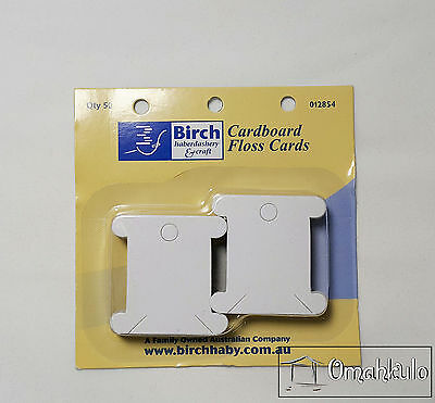 BIRCH - Cardboard Floss Bobbins Cards - 50 Pack