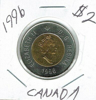 1996 Canadian Brilliant Uncirculated $2 Toonie coin!