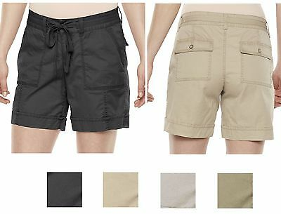New Sonoma Women Stretch Twill Mid-Rise Casual Shorts 4 Color Size 8–16 MSRP $32