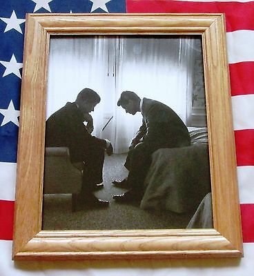Framed Historic Photograph, John F Kennedy and Robert Kennedy 1960