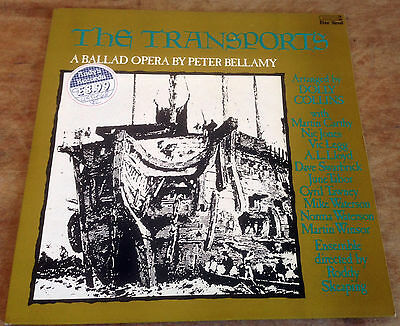 PETER BELLAMY the transports 1977 UK FREE REED 2-LP + ATTACHED BOOKLET