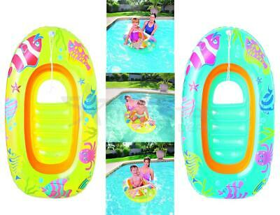 Childrens Inflatable Dingy Float Sealife Boat Summer Swimming Pool Beach Toy