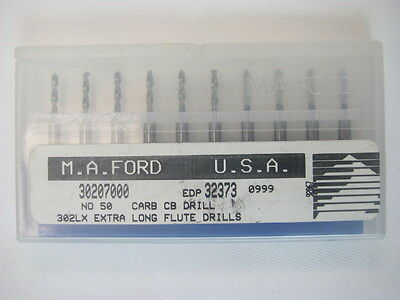 M.A.Ford 30207000 No.50 Carbide Circuit Board 302LX Extra Long Flute Drills