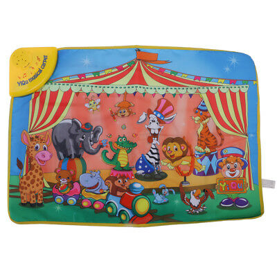 Cartoon Multifunction Game Mat Carpet w/Musical & Animal Sounds Play Mat Toy