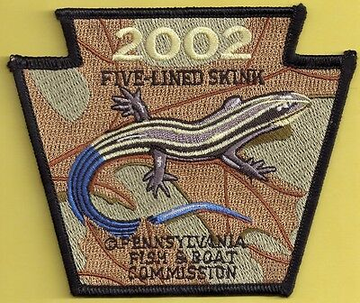 Pa Pennsylvania Fish Commission 2002 Five-lined Skink Non-Game Series Patch
