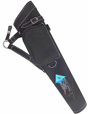 NEW TRADITIONAL FINE SUEDE BLACK QUIVER ARCHERY PRODUCTS  AQ117 ( Right Hand).