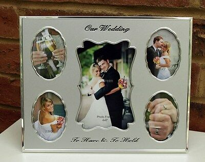 Our Wedding Collage Photo Frame Metal Picture Shabby Chic Modern Gift New