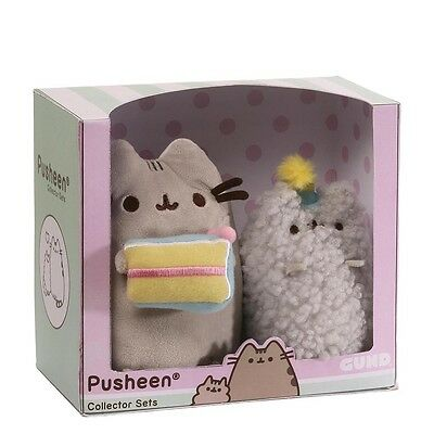 Official Gund Pusheen the Cat & Stormy Soft Toy Collectable Birthday Gift Set