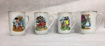 THE DISNEY COLLECTION:  Set of 4 DISNEY CLASSIC MUGS, made in Japan
