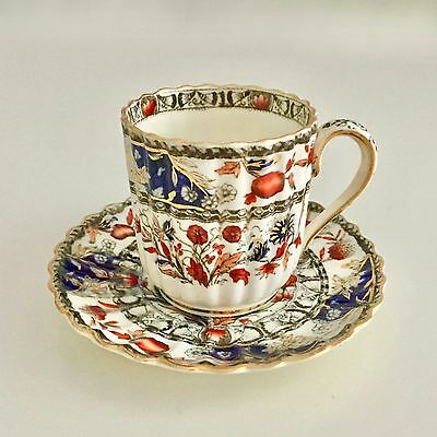 Copeland Spode fluted demitasse coffee cup, flower pattern, 1889