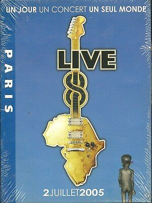 Live 8 One Day One Concert One World Various Artists Paris DVD Neu OVP Sealed