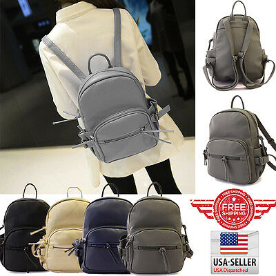 Fashion Women Leather Backpack Rucksack Travel School Bag Shoulder Bags H0107