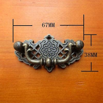 Lot of 6pcs VTG antique drawer Handle pull drop furniture cabinet Decor Bronze