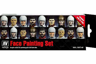 Set Vallejo Model Color-Face Paint- Jaume Ortiz (8x17ml) - Acrylicos Vallejo 842