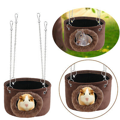 Hammock Hanging Snuggle Cave Hut for Squirrel Chinchilla Guinea Pet Pig Rat Bed