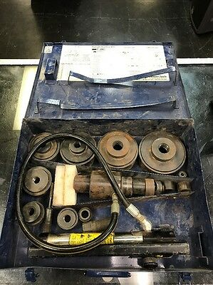 """Current Tools 154PM - 1/2"""" to 4"""" Piece Maker Hydraulic Knockout Set (USED)"""