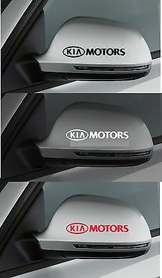 For Kia - 2 x KIA MOTORS Wing Mirror - CAR DECAL STICKER RIO PICANTO - 95mm long