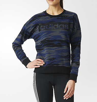 New WOMEN ATHLETICS ESSENTIALS ALLOVER PRINT SWEATSHIRT/soft/sport top/fashion