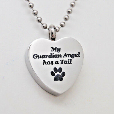 Engraved Heart Urn Necklace for Pets || Dog or Cat Ashes Holder Jewelry