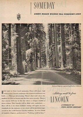 1945 Lincoln Redwood Highway Eureka California CA Ad : Vintage Advertising