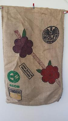 Hessian Sack Coffee Berries Jute / Burlap Bag from Mexico Top Quality + Strength