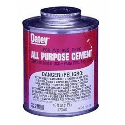 Oatey Company 30834TV Clear ALL Purpose Solvent Cement 16oz,30846,Oatey Company