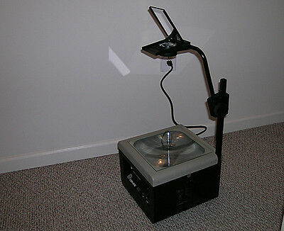Dukane 633 2-bulb Overhead Transparency Projector Tested Works Great School Art
