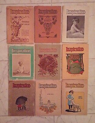 9 Inspiration booklets from World's Star Knitting Company 1913-1916 Underwear