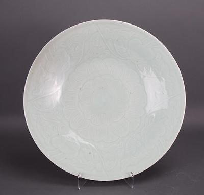 A Qing Dynasty Large Celadon Glazed Plate