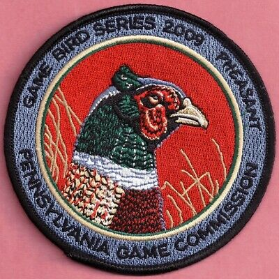 "Pa Pennsylvania Game Fish Commission 4"" 2009 Ringneck Pheasant Game Bird Patch"