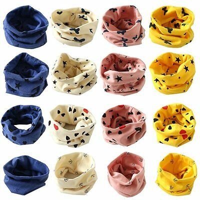 Fall Winter Kid Baby Girl Boy Cotton Snood Scarf Scarves Neckerchief Star Print