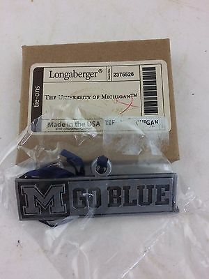 Longaberger University of Michigan Basket Tie On TO NIB Go Blue