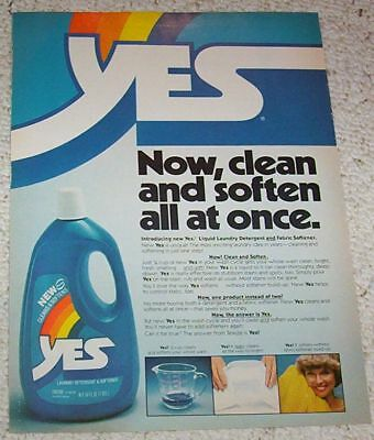 1978 vintage ad page - YES Laundry soap detergent softener PRINT AD