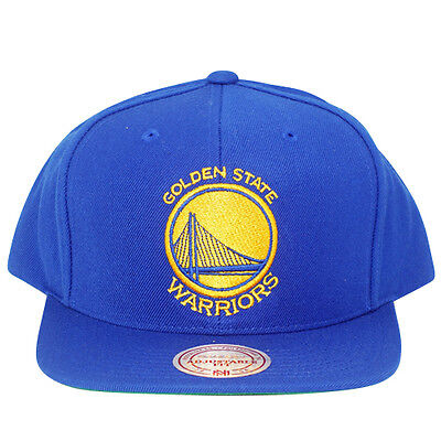 NBA Golden State Warriors Wool Mitchell and Ness Snapback Blue