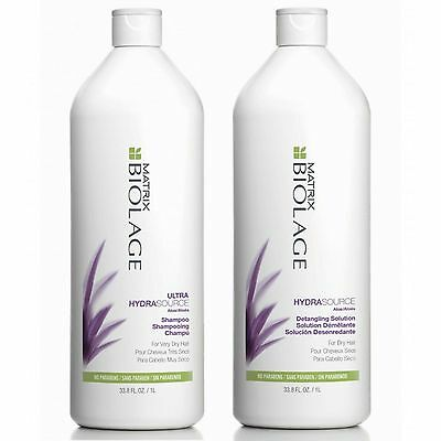 Matrix Biolage Hydrating Shampoo 1 L And Detangling Solution 1 L With Pumps Fs