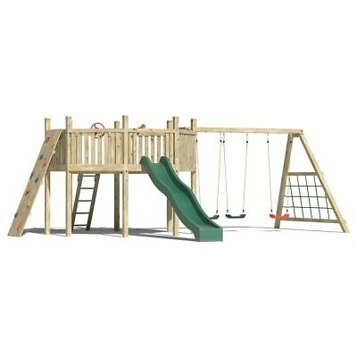 Octagonal Huge OUTDOOR QUALITY WOODEN CLIMBING FRAME Monkey Bars Slide Bespoke
