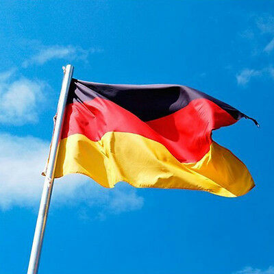 Wave Large German FLAG 3*5 FT 3'*5' Super-Poly Country germany football Banner
