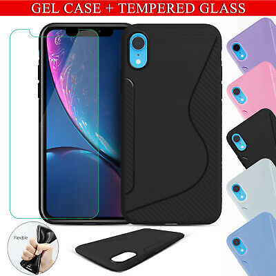 Case+GORILLA-TEMPERED GLASS FILM SCREEN PROTECTOR FOR NEW iPhone XR,XS-MAX,XS