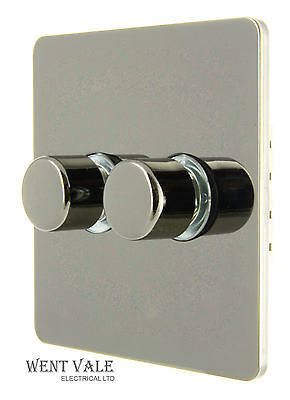 GET Schneider GU6022LV Ultimate White 6A 2G 2W Rotary 60-250w Dimmer PushSwitch
