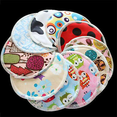 6/12 Reusable Bamboo Baby Feeding Breast Pads Washable Mum Nursing Breastfeeding