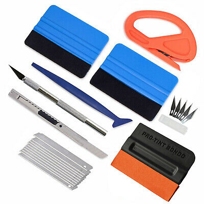 Window Tint Tools Car Wrapping Kit, Sticker Vinyl Installing Sheet Squeegee UK