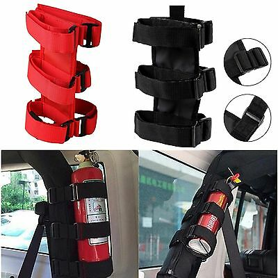 Durable Roll Bar Fire Extinguisher Holder For Jeep Wrangler Safety Accessory Kit