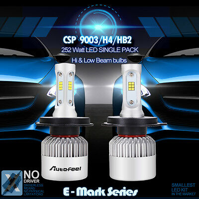 9003 H4 Lumileds 252W Bulbs 6000K White 25200LM LED Headlight Kit Hi/Lo Beam SIR