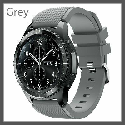Grey Silicone Strap Wrist Band For Samsung Gear S3 Frontier Classic Watch