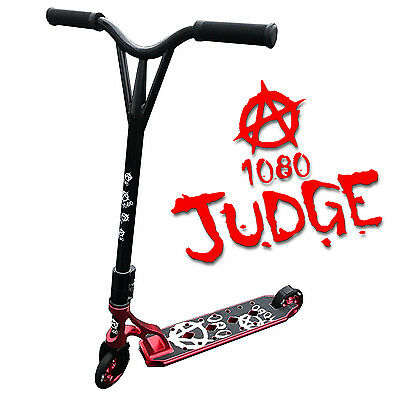 1080 Judge Stunt Scooter For Kids With Alloy Custom Deck - Anodised Red
